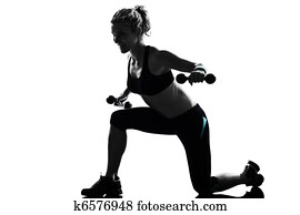 woman workout fitness posture weight training