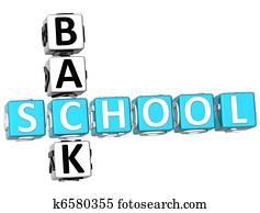 3D Back School Crossword