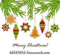 Christmas ornaments hanging