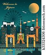 fascinating Japan travel poster