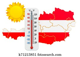 Heat in Austria concept. 3D rendering