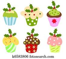 weihnachten, cupcakes