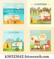 Camping Caravan Set