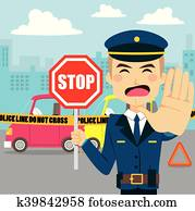 Car Accident Policeman
