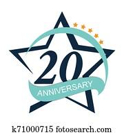 Template Logo 20 Anniversary Illustration