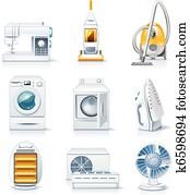 Vector household appliances. P.4