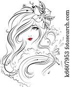 Face, Eyes, Hair & Beauty Illustrat