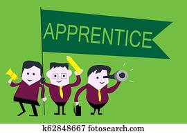 Handwriting text Apprentice. Concept meaning Person learning training from a mentor Intern Trainee Learner