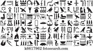 Ancient Egyptian hieroglyphs SET 2