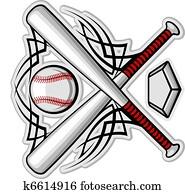 farbe, baseball, emblem