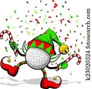 Golf Christmas Elf