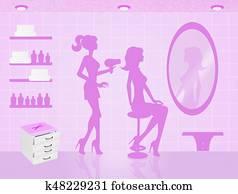 Hairdresser's salon