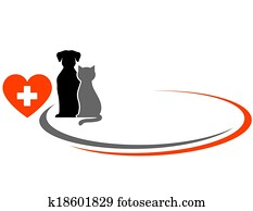 veterinarian background with animal