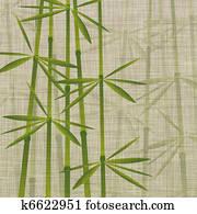 bamboo on linen