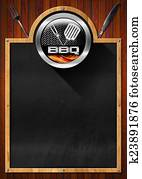 Blackboard for Barbecue Menu