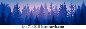 kiefernwald, landschaft, berg, himmel, w?lder