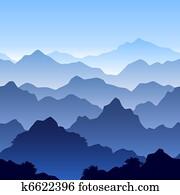seamless, berglandschaft