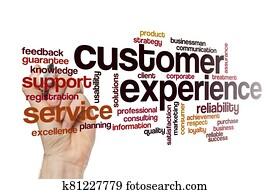 Customer experience word cloud concept