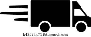 lieferwagen, symbol