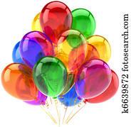 luftballone, geburtstagparty, deko