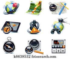 Vector GPS navigation icons. P.1