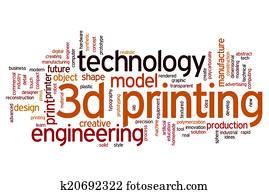 3D printing word cloud