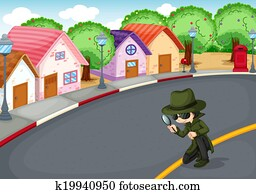 A detective at the road