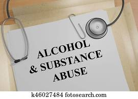Alcohol & Substance Abuse - medical concept