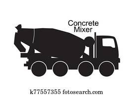 betonmischer, lastwagen