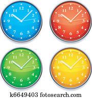 farbe, clock.
