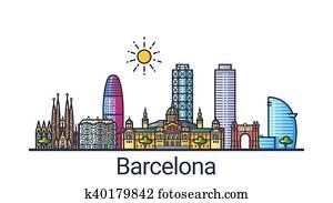 Flat line Barcelona banner
