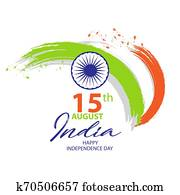 India Independence Day card, August 15.