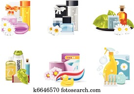 Vector health and beauty supplies