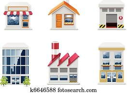 Vector real estate icons. P.1