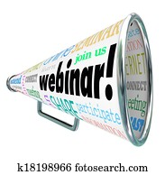 Webinar Bullhorn Megaphone Online Seminar Webcast Register