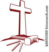 Christian Cross and Hammer