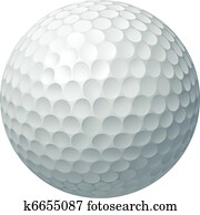 Golf ball illustration
