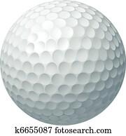 golf- kugel, abbildung