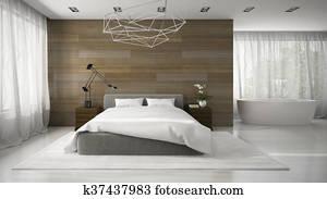 Stock photo of black white striped shower curtain above for 3d slaapkamer inrichten