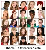 Twenty-Five Teen Faces