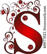 capital letter S red