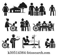 Elderly Care Nursing Old Folks Home