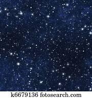 star filled night sky