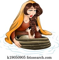 Moses Placed In Water By His Mother
