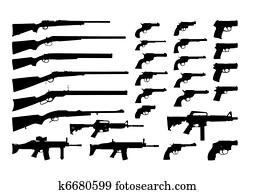 vector gun silhouettes