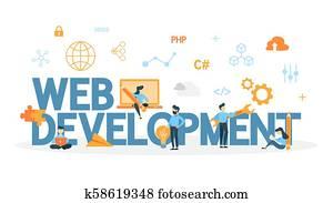 Web development concept.