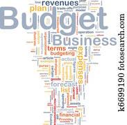 Budget background concept