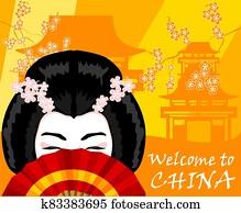 China and chinese woman