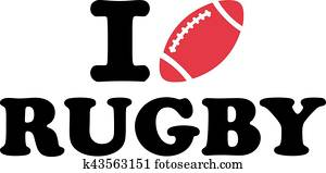 I love Rugby ball