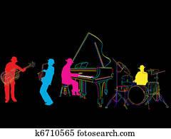 Stylized jazz band